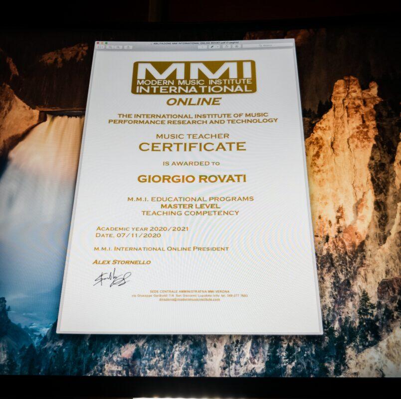 Corso di Chitarra Elettrica Certificato MMI